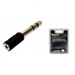 Adapter audio VAKOSS jack 6,3mm - minijack 3,5mm TC-A102K czarny