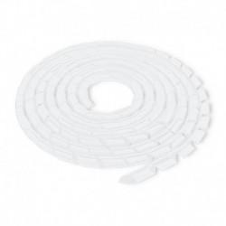 Organizer do kabli Qoltec 6mm | 10m | Biały/transparentny