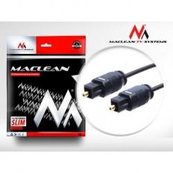 Kabel audio Maclean MCTV-750 Toslink (M) - Toslink (M), 0,5m, czarny