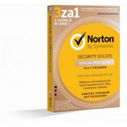 Oprogramowanie NORTON SECURITY DELUXE 3.0 PL 1 USER 3 DEVICE 12MO Edycja Specjalna