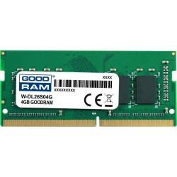 Pamięć DDR4 GOODRAM SODIMM 4GB 2666MHz ded. do DELL (W-DL26S04G)