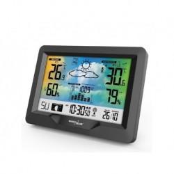 Stacja pogody bezprzewodowa GreenBlue GB540 kolorowa z systemem DCF fazy księżyca, barometr, kalendarz
