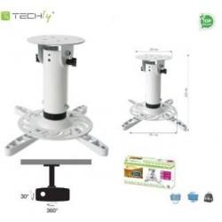 Ramię do projektora Techly A-PM200WH 20 cm. sufitowe, białe