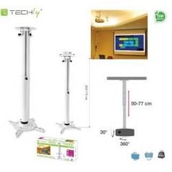 Ramię do projektora Techly A-PM104MW 50-77 cm. sufitowe, białe