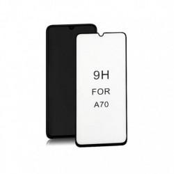 Szkło ochronne hartowane PREMIUM Qoltec do Samsung Galaxy A70 | 6D | Pełne | Czarne