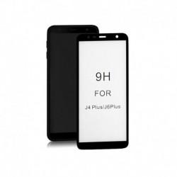 Szkło ochronne hartowane PREMIUM Qoltec do Samsung Galaxy J6+ 2018 | 6D | Pełne | Czarne