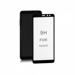 Szkło ochronne hartowane PREMIUM Qoltec do Samsung Galaxy A8 2018 | 6D | Pełne | Czarne