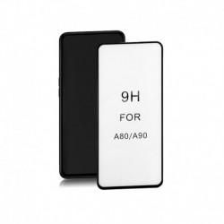 Szkło ochronne hartowane PREMIUM Qoltec do Samsung Galaxy A90 | 6D | Pełne | Czarne