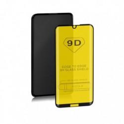 Szkło ochronne hartowane PREMIUM Qoltec do Huawei Y5 2019 | 9D | Pełne | Czarne