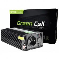 Przetwornica samochodowa Green Cell® 12V na 230V Czysta sinusoida 300W
