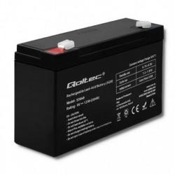 Akumulator AGM Qoltec | 6V | 12Ah