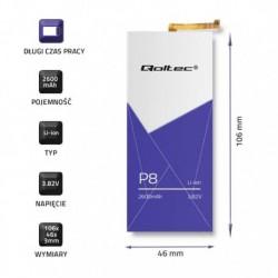 Bateria Qoltec do Huawei P8 | 2600mAh