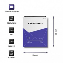 Bateria Qoltec do Samsung Galaxy J7 | 1850mAh