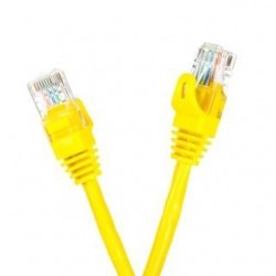 Patchcord UTP cat.5e 1m START.LAN żółty
