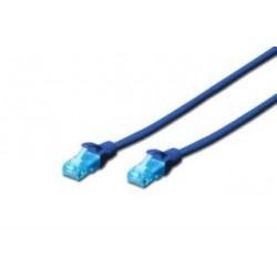 Patchcord Digitus UTP kat. 5e 0,25m PVC niebieski