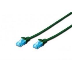 Patchcord Digitus UTP kat. 5e 0,25m PVC zielony