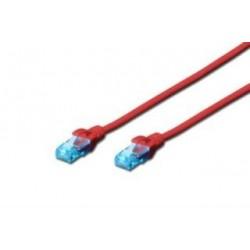 Patchcord Digitus UTP kat. 5e 0,25m PVC czerwony