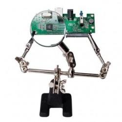 """Uchwyt narzędziowy LogiLink WZ0034 """"trzecia ręka"""" z lupą"""