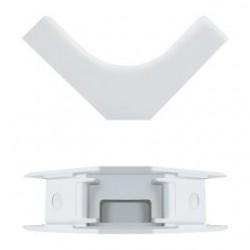 Zaślepka okablowania Qoltec - narożnik wewnętrzny 45x18mm | biały