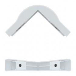 Zaślepka okablowania Qoltec - Narożnik zewnętrzny 76x18mm | biały