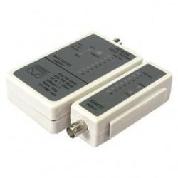 Tester kabli LogiLink WZ0011 do złącz RJ45 i BNC, z jednostką zdalną