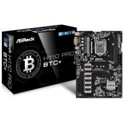 Płyta ASRock H110 Pro BTC+ /H110/DDR4/SATA3/USB3.0/PCIe3.0/s.1151/mATX