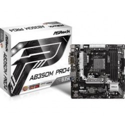 Płyta ASRock AB350M Pro4 /AMD B350/DDR4/SATA3/M.2/USB3.0/PCIe3.0/AM4/mATX