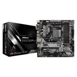 Płyta ASRock B450M Pro4 /AMD B450/DDR4/SATA3/M.2/USB3.0/PCIe3.0/AM4/mATX