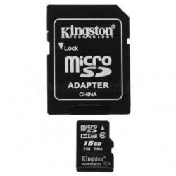 Karta pamięci MicroSDHC Kingston 16GB + Adapter Class4