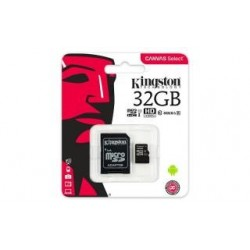 Karta pamięci Kingston microSDHC Canvas Select 32GB UHS-I Class 10 + adapter